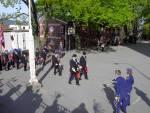 Wesselengens Bataljon marsjerer inn på Krohnengen skole