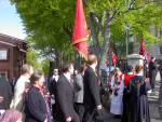 Gamlekarene til Wesselengens Bataljon samler seg foran Krohnengen skole